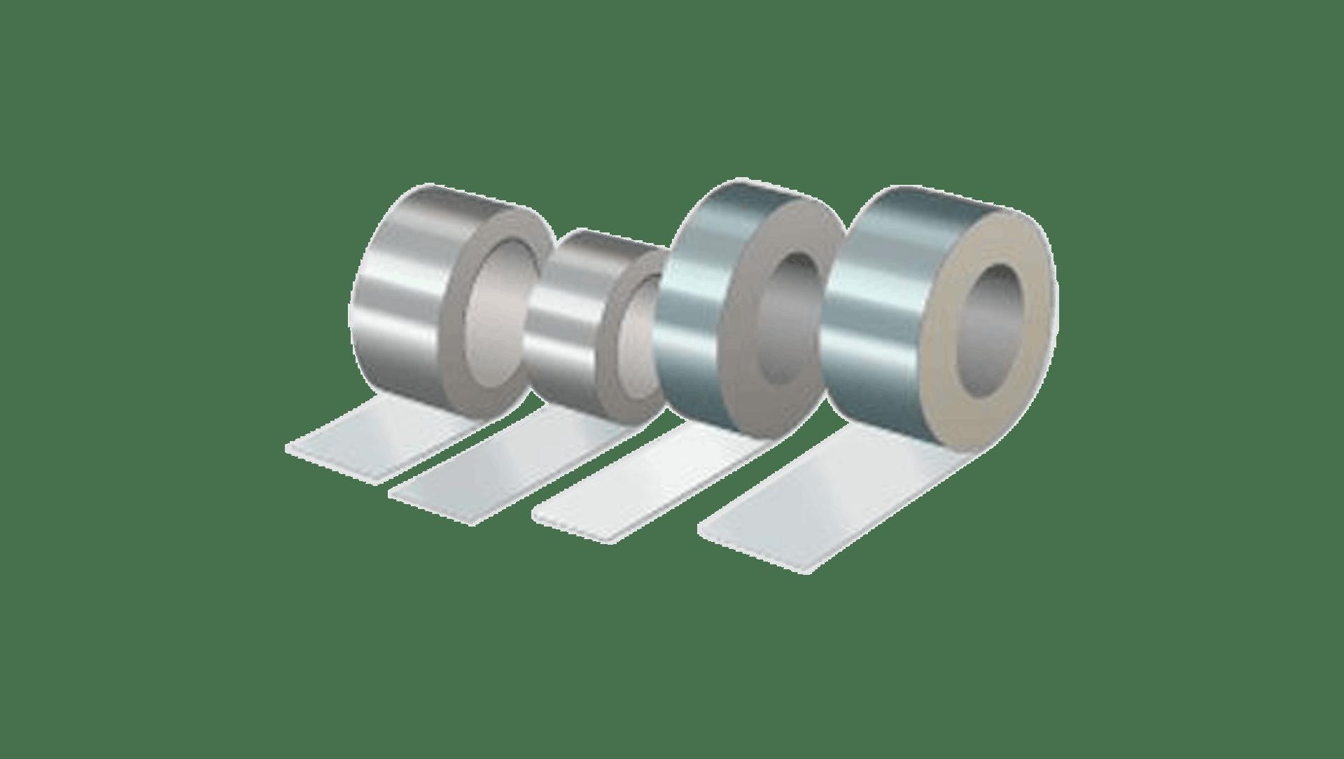 Product picture, Alu. lerretstape 365 48 mm, Alu-tape T-301 for lamelmatte, Alu-tape T-301 for rørskål