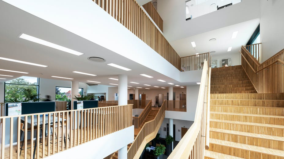 DK, Vejen Rådhus, Vejen, Transform-Pluskontoret-Rambøll, Office, Open Plan Office, Rockfon Mono Acoustic, white
