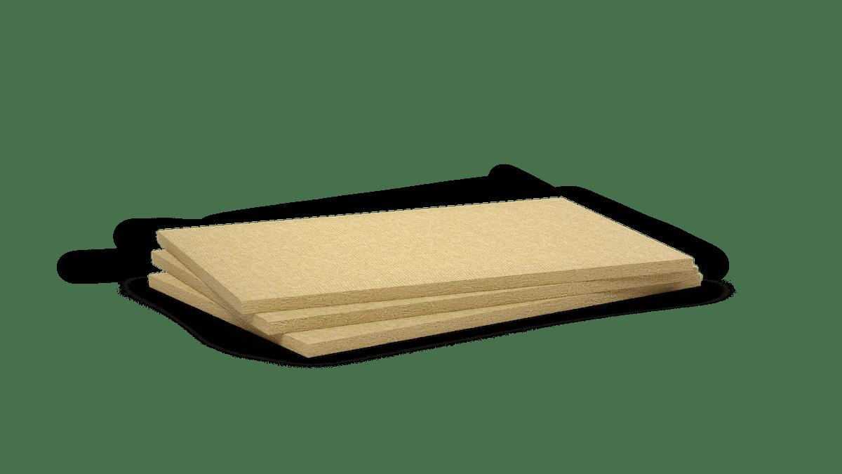 Mono density, high density stone wool slab. Fire protection. Conlit 150 P, Frontrock RP-PT, Frontrock S