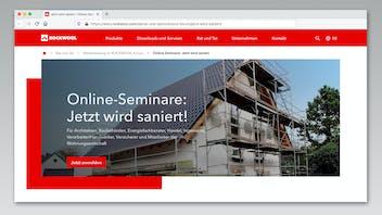 online-verbundschulung sanierung, online network training renovation, seminar, rockwool forum, germany, press, presse