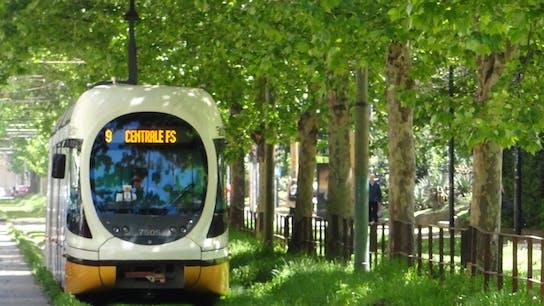 lapinus, rockdelta, tracks, train, noise cancelling, city, tram, trees, outside
