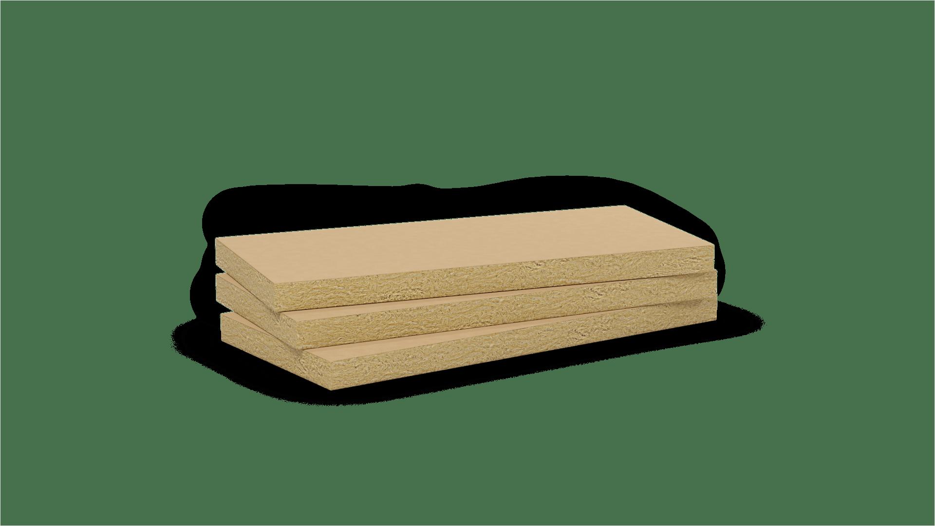 Mono density, mid-high density stone wool slab with kraft paper. Products: Confortpan 208.116, Rockmur Kraft, Rockplus Kraft, Airrock HD K1, Airrock 33 Kraft, Airrock 35 Kraft