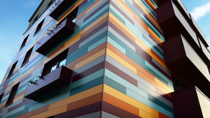 Renovation of a Multi Family Housing in Hannover, Germany with Rockpanel Colours exterior cladding