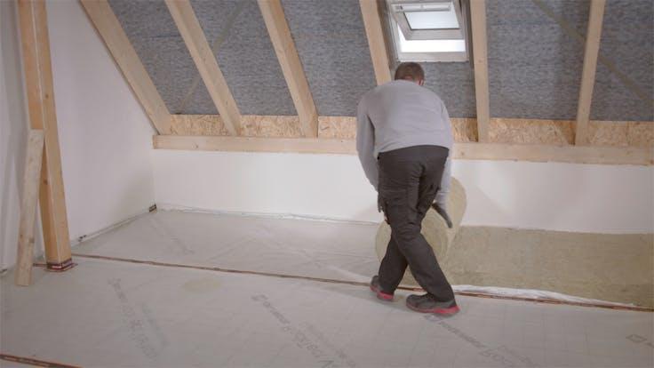 Dachbodendämmung, Verarbeitung, Anleitung, Video, nicht begehbar, wartungsweg, attic insulation, steps,  varirock, thumbnail