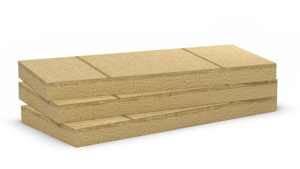 Double density stone wool slabs with vertical lines for orientation. Products: Rocksate Duo Plus, Durock Austria, Durock Energy Plus, Monrock Energy Plus, Hardrock Energy Plus, Hardrock Max, Ventirock Duo, Frontrock Max Plus, Frontrock Casa, Frontrock Reno, Flatrock 50, Flatrock 60, Flatrock 70