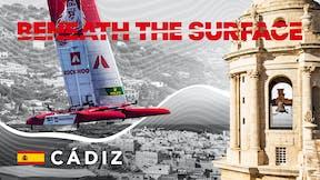 SailGP, Beneath the Surface of Cadiz, YouTube thumbnail, campaign video