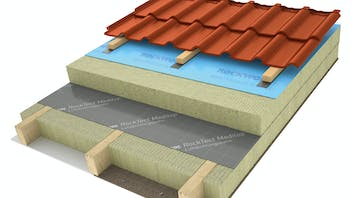products, pitched roof, insulation above the rafters, insulation on the rafters, meisterdach, masterrock, rocktect, meditop, rocktect meditop, illustration, graphic, schraegdachbroschuere, germany
