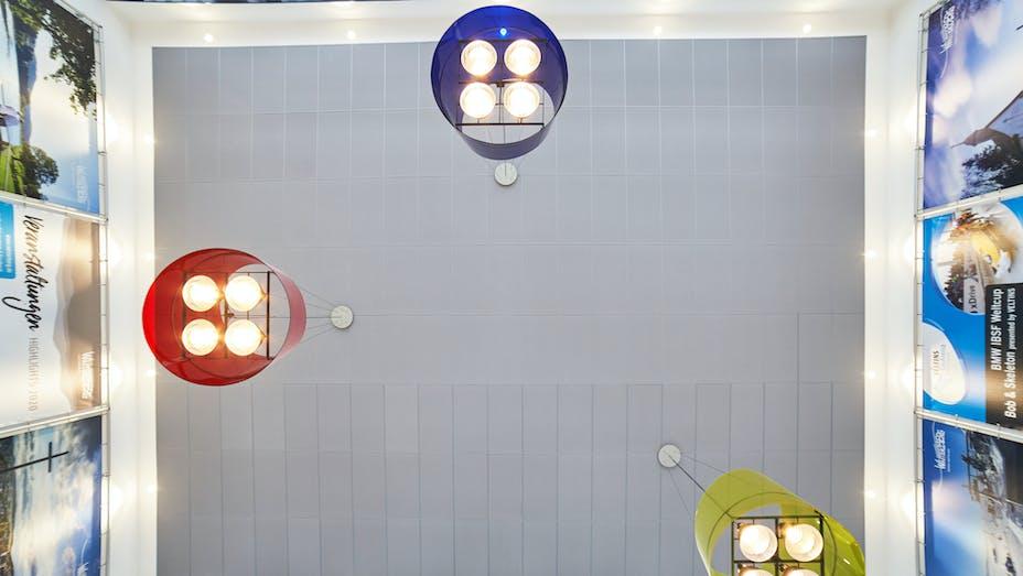 DE, Winterberg, Service & Citizens' Train station Winterberg, Bahnhof, Rockfon Color-all, A-edge, 1250x625, Concrete colour, Chicago Metallic 2890, Dipl.-Ing. Helga Köster-Saure Architektin