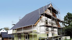 single family house, before renovation, pitched roof germany