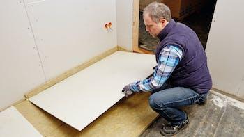 product, floor, impact sound, footfall sound insulation, floorrock gp, germany, job 4528
