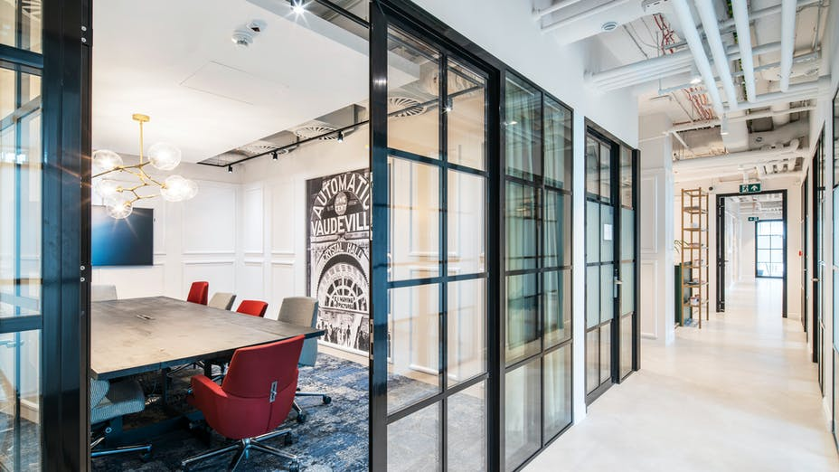 PL, Solusions Rent Coworking Office, Warsaw, The Design Group, Office, Rockfon Mono Acoustic, White, Meeting room