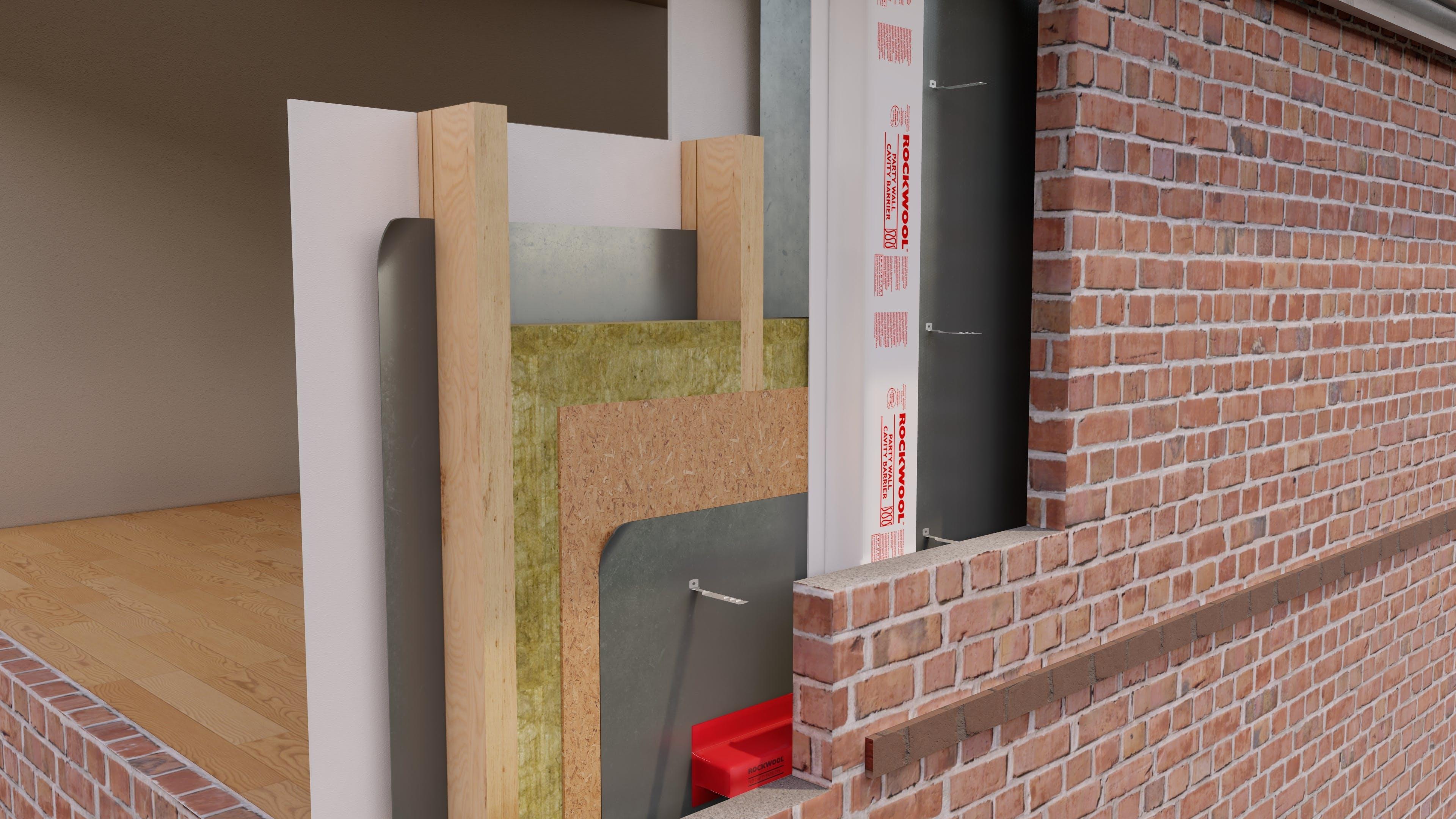External Wall - Timber Frame  Brick - THERMAL TIMBER FRAME SLAB