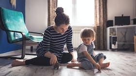 RockWorld imagery, Modern living, mother, child, family, indoor