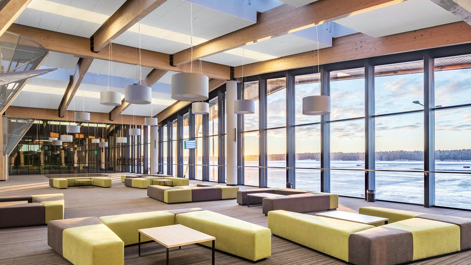 Acoustic ceiling solution: Rockfon Color-all®, 1200 x 600