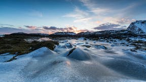 RockWorld Imagery, The Big Picture, ice, mountains, sunset, sky