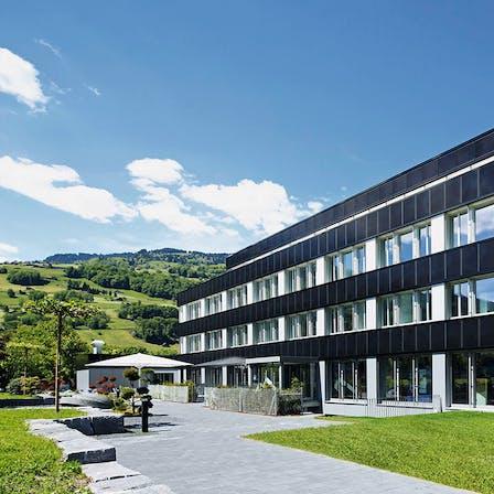 FLU Buerogebaeude, building, greenery, office