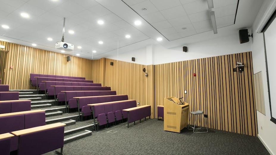 Inverness College,UK,Scotland,Inverness,BDP Architects,DV McColl,Alison White Photography,ROCKFON Sonar,A-edge,white