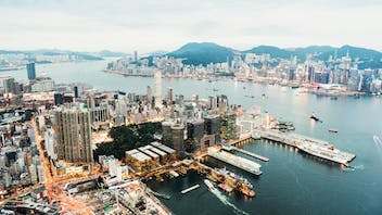 Big picture city outdoor Hong Kong island and skyline.