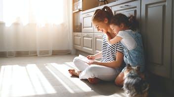 Home, kitchen, interior, floor, family