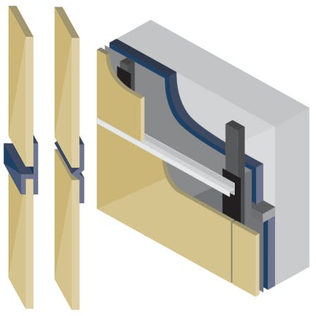 Ventilated constructions with open & closed joints with Rockpanel exterior cladding boards