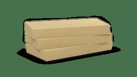 Mono density, high density stone wool slabs. Products: Fitrock Energy Plus 234, Dachrock
