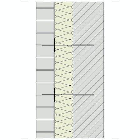 drawing, skizze, zeichnung, cavity wall, cavity wall insulation, kernrock, kerndämmung, zweischaliges mauerwerk, brochure, broschüre, dämmung von außenwänden, Seite 10+11, germany