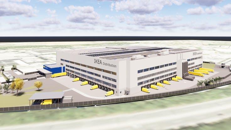 reference, ikea, distribution center, ikea cdc, planning, flat roof, strebersdorf, austria