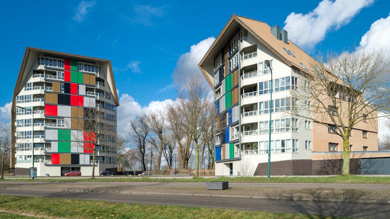 Apartment block 't Zicht with Rockpanel Colours in Leusden, The Netherlands