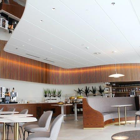 IS, Tel Aviv, Dan Lounge Terminal 3, Yaron Tal Studio, Leisure, Restaurants/ Pub/ Nightclub, Rockfon Sonar, D1-10/Dznl edge, 1200x600, white