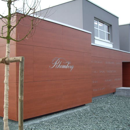 Single Family House with routed Rockpanel Woods exterior cladding in Marbach, Switzerland