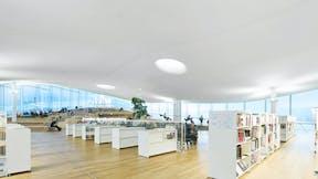 FI, Helsinki Central Library Oodi, Helsinki, ALA Architects, Leisure, Rockfon Mono Acoustic, TE-edge, 1200x1200, White, Library