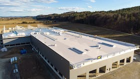 reference, egger glas, production hall, flat roof, gersdorf, austria