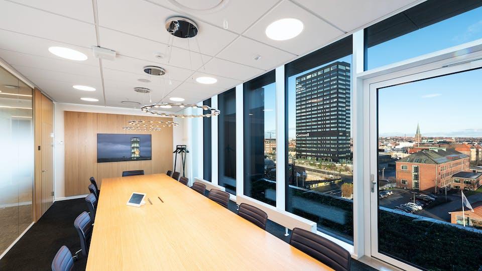 Acoustic ceiling solution: Rockfon Blanka®, 1200 x 600