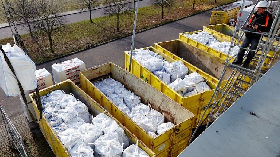 recycling, rockcycle, old stone wool, flat roof, flatroof, big bag, baustellenverschnitt, abfallrücknahme, sanierung, abfallrücknahmeservice, germany
