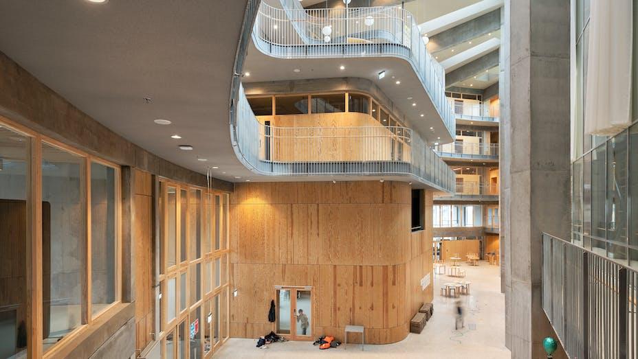 DK, Copenhagen, Kalvebod fælled skole, Lundgaard & Tranberg Arkitekter, School, Rockfon Mono Acoustic, grey