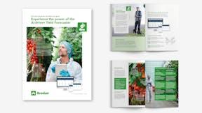 eGro, ai-driven, yield forecaster, experience, power, brochure, visual
