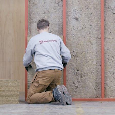 Installation, DIY guide, video work instruction, improvement insulation, renovation, exterior wall