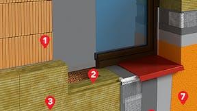 ETICS, FASROCK, external wall, layers