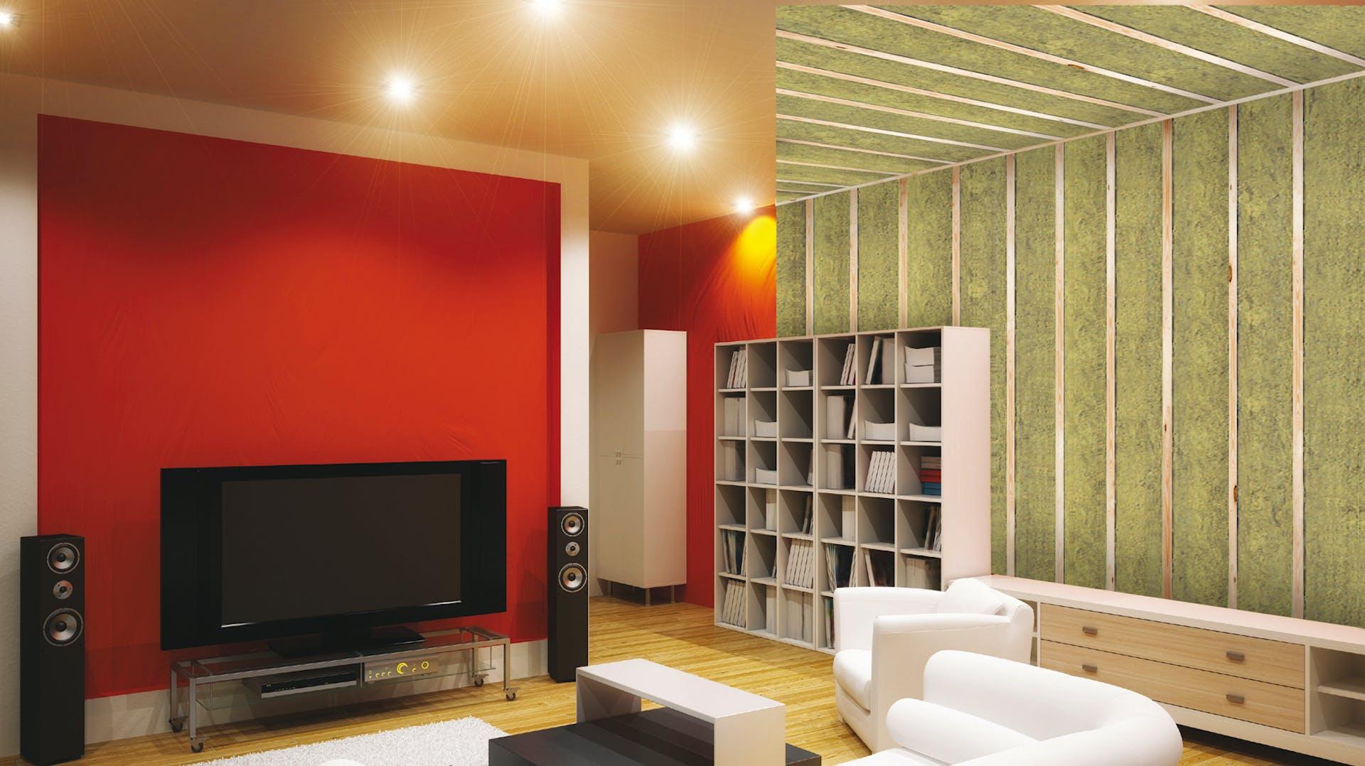 sound proof room, basement, theatre