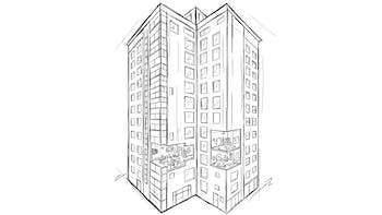 Sketch - High-rise building, mixed use