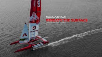 Beneath the surface logo, BTS Key visuals, SailGP, Denmark SailGP Team