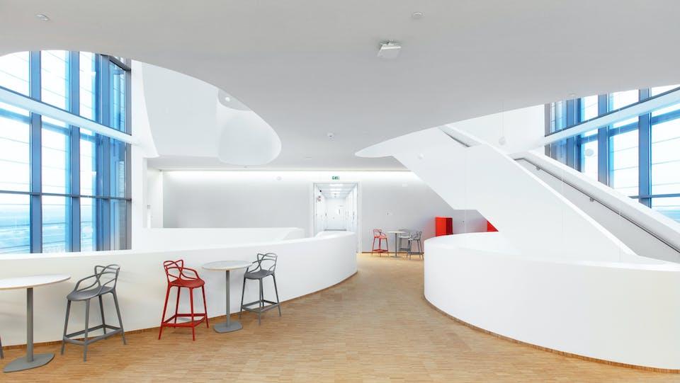 Acoustic ceiling solution: Rockfon® Mono® Acoustic - Chicago Metallic™ Monolithic
