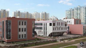 School #777, Russia, Saint Petersburg, Rockfon, ceiling, ROCKWOOL, insulation