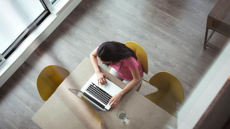 RockWorld imagery, Modern living, work, woman,