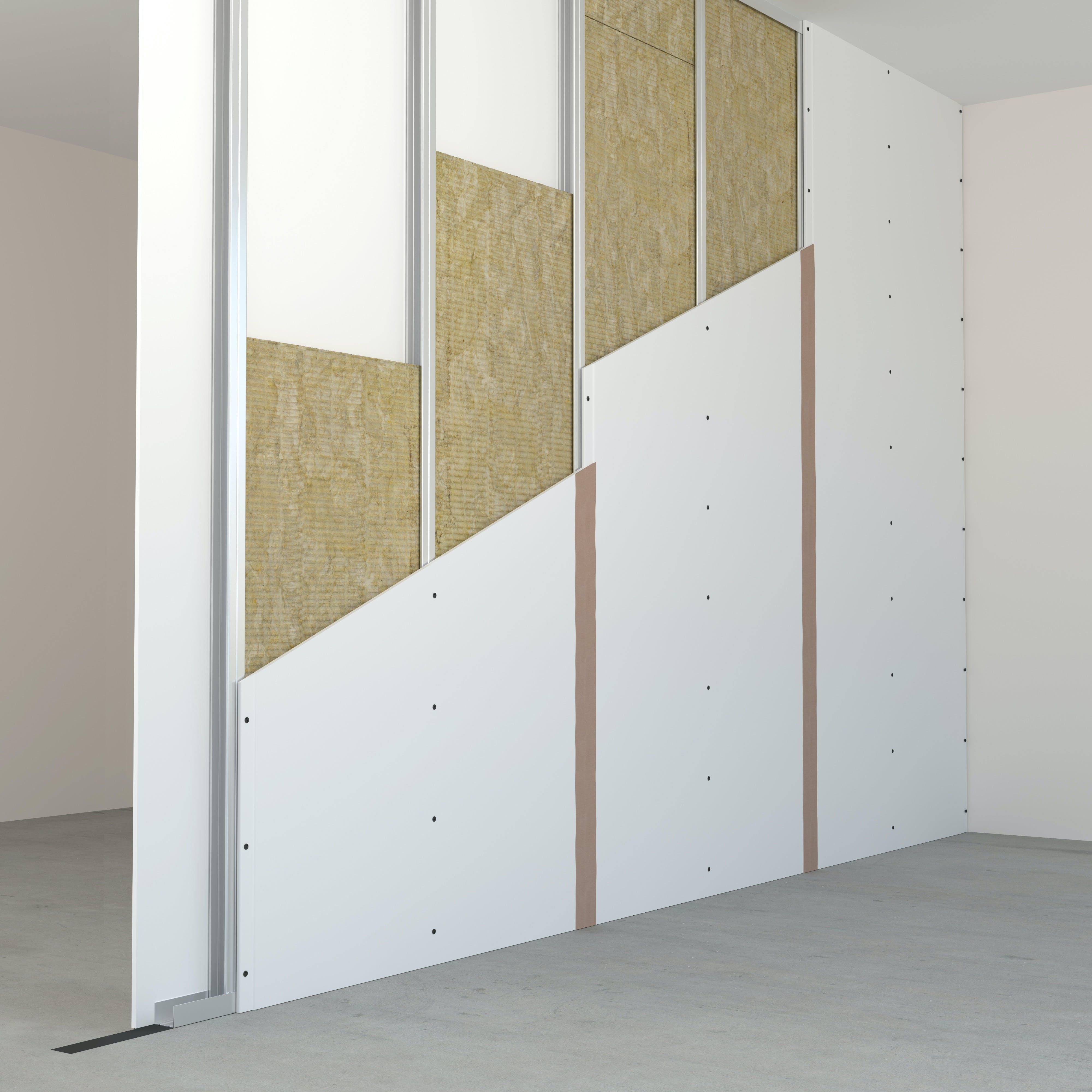 Partition walls, internal insulation