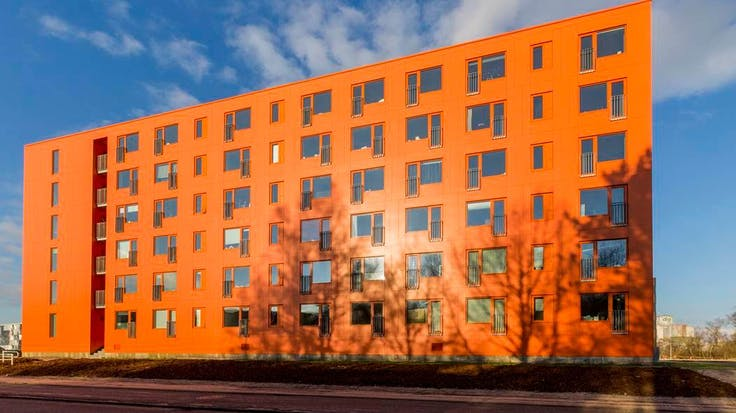 'Design City' in Kolding, Denmakr covered with Rockpanel Colours exterior cladding boards
