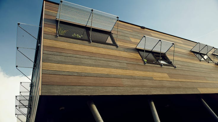'The Tree House' community school project in Zaltbommel, The Netherlands with Rockpanel Woods exterior cladding