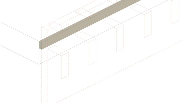 Installation process Curtain Wall - System MC 60-90 Firestop strips, curtain wall, fire protection, facade, installation, FP.  Proceso de instalación Sistema Conlit MC 60-90: Instalación paso a paso, Franja cortafuego, muro cortina, fachada panel. Conlit Alu  Step 4. Paso 4