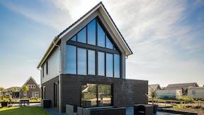 Rockpanel case study blauwe stad  Rockpanel Woods Slate Oak