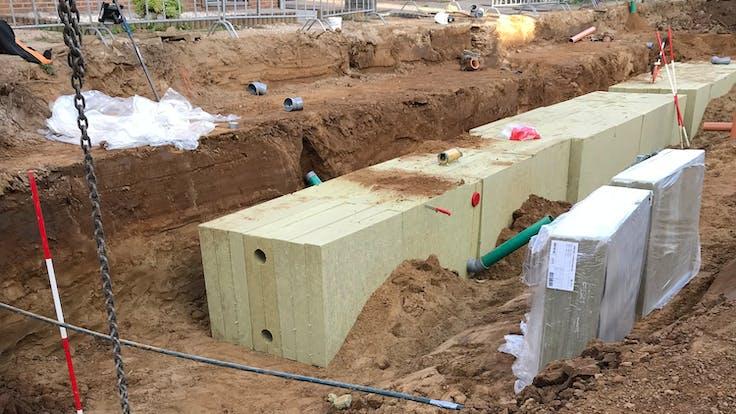 case study, water storage, rainwater sewer, absorption, lapinus